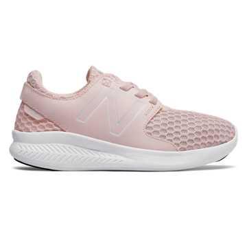 New Balance COAST系列 中童 跑步系列 松紧带式 透气鞋面, 肉粉色