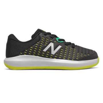 New Balance KC696v4, Black with Sulphur Yellow & Neon Emerald