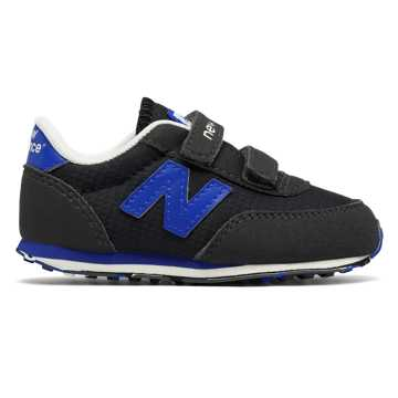 New Balance 410 Hook and Loop, Black with Baltic