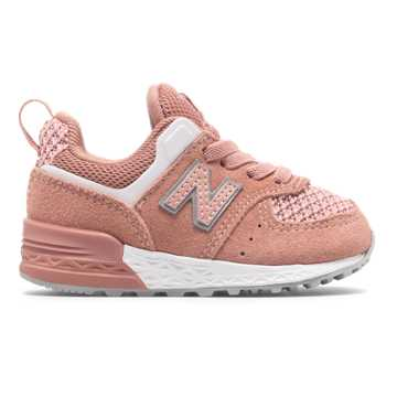 New Balance 574 Sport, Dusted Peach with White