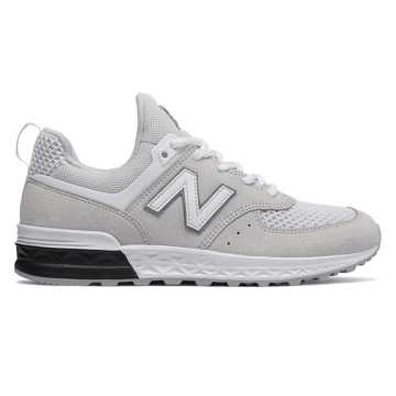 New Balance 574 Sport, White with Grey