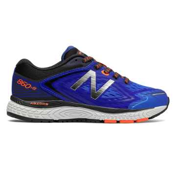 New Balance 860v8, Blue with Dark Grey & Orange
