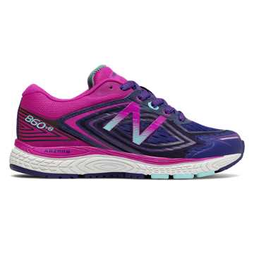 New Balance 860v8, Navy with Poisonberry