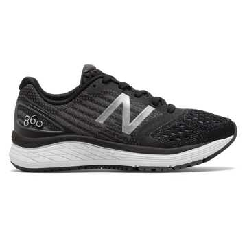 New Balance 860, Black with Laser Blue