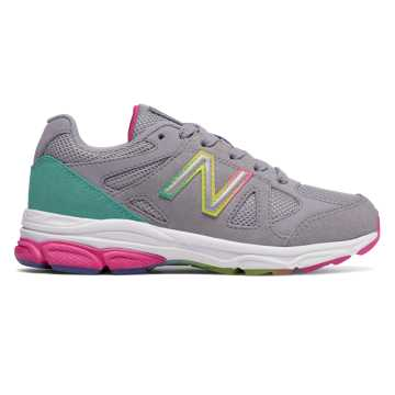 New Balance 888, Silver Mink with Rainbow