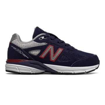 New Balance 990v4, Blue with Red