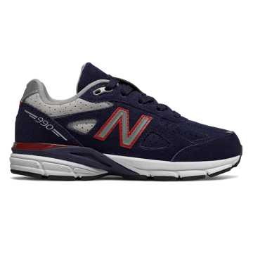 New Balance 990v4, Navy with Red