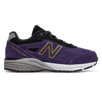 New Balance 990v4, Black with Wild Indigo