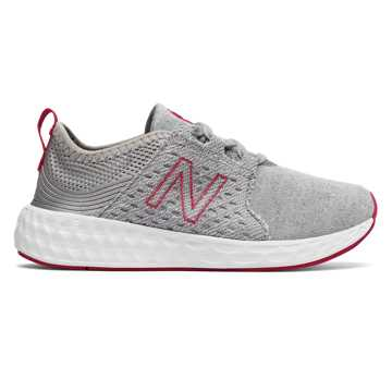 New Balance Cruz Sport Hoodie Pack, Silver Mink with Pink