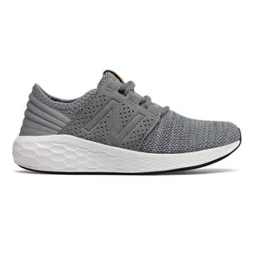 New Balance Fresh Foam Cruz Knit, Gunmetal with White
