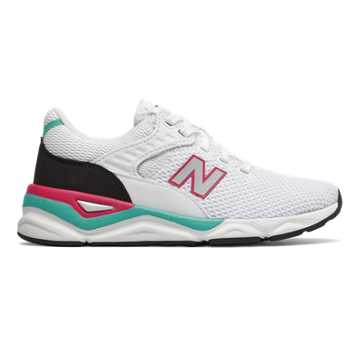 New Balance X-90, White with Teal
