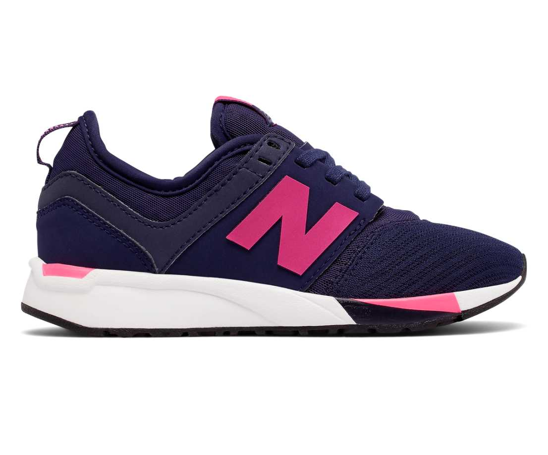 NB 247 Sport, Navy with Pink Flamingo