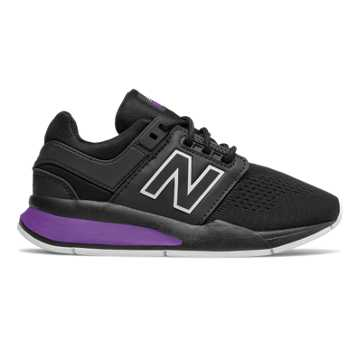 New Balance 247, Black with Faded Violet