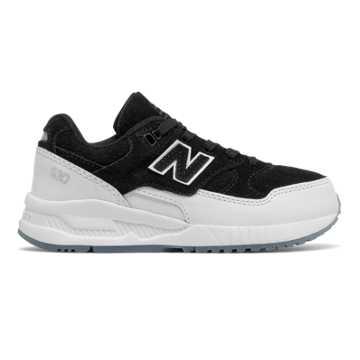New Balance 530 New Balance, Black with White