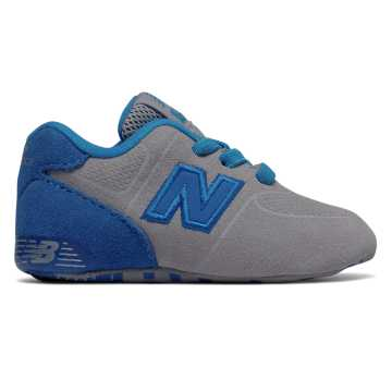 New Balance 574 Crib, Grey with Blue