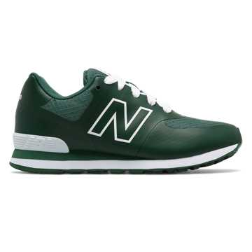 New Balance 574 Puddle Jumper, Hunter Green with White