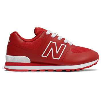 New Balance 574 Puddle Jumper, Red with White