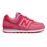 NB 574 Leisure, Pink with White