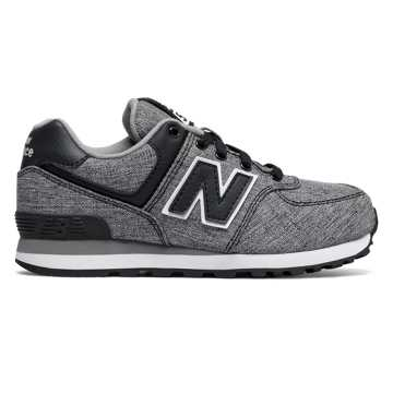New Balance 574 Leisure, Black with White