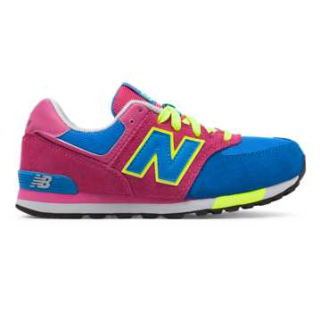 New Balance 574 Cut and Paste, Blue with Really Red