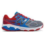 NB New Balance 680v3, Grey with Blue & Really Red