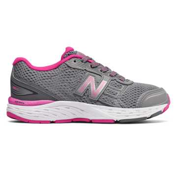New Balance 680v5, Steel with Pink Glo