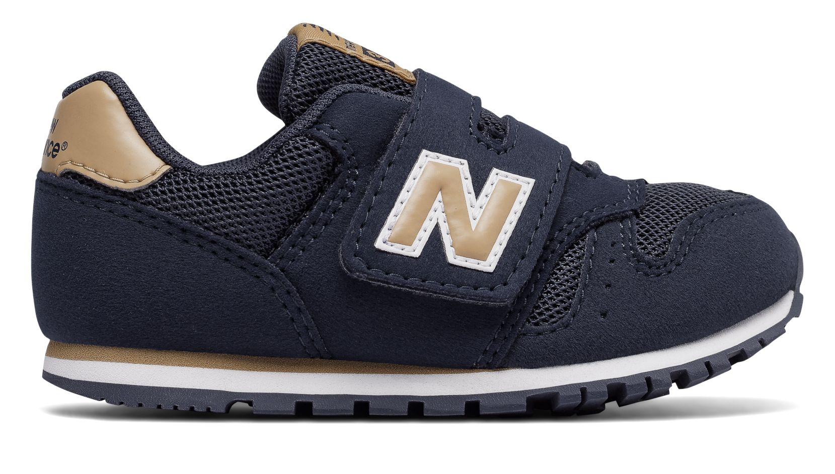 new balance 373 navy tan