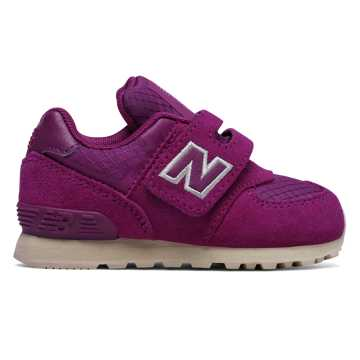 New Balance Hook and Loop 574, Pink with Off White
