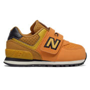 NB 574 Hook and Loop, Yellow with Black