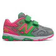 NB New Balance 680v3, Grey with Pink Zing & Neon Green