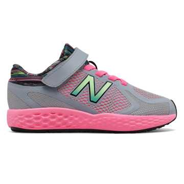 New Balance Hook and Loop 720v4, Grey with Pink