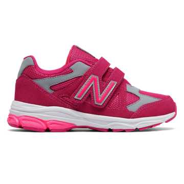 New Balance Hook and Loop 888, Pink Zing with Grey
