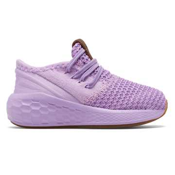 New Balance Bungee Lace Fresh Foam Cruz v2 Decon, Dark Violet with Violet Glo