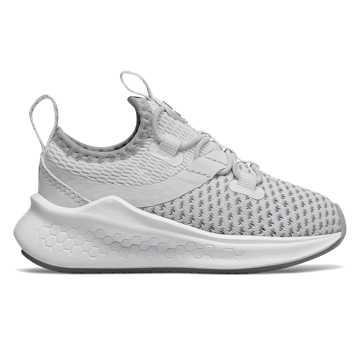 New Balance LAZR系列 小童 跑步系列 袜套设计 透气鞋面, 白色