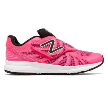New Balance Hook and Loop FuelCore Rush v3, Pink with Black