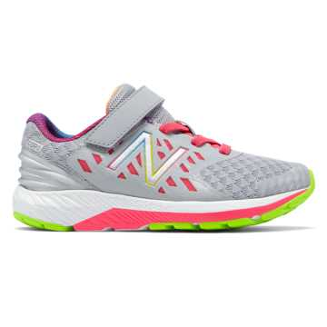 New Balance Girls' Court Shoe Sneaker, Pink/White, 6.5 Wide US Little Kid