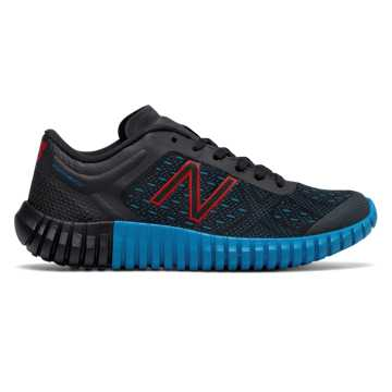 New Balance New Balance 99v2 Trainer, Black with Bolt & Red