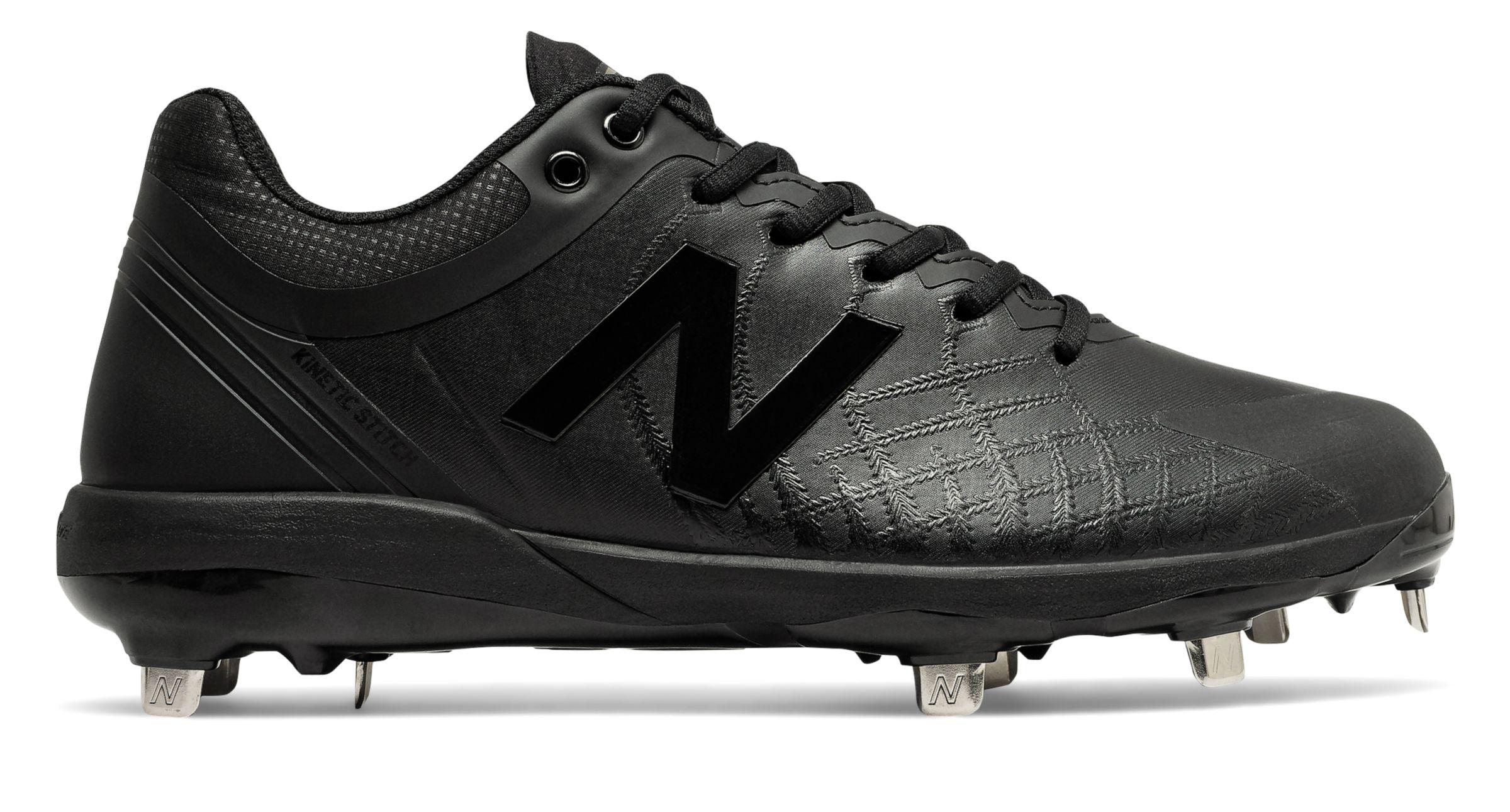 all black new balance baseball cleats