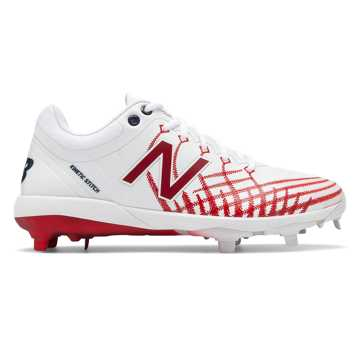 New Balance 4040v5 Hero, White with Red & Team Navy