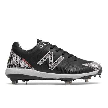 New Balance 4040v5 Pedroia Metal, Black Camo with White & Red