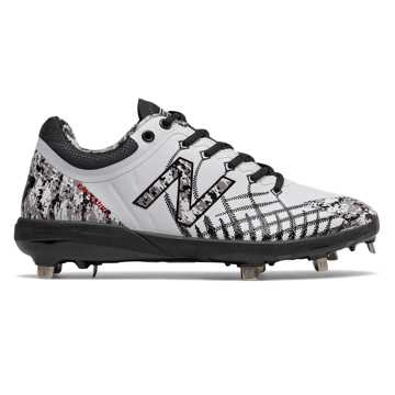 New Balance 4040v5 Pedroia Metal, White with Black Camo & Red