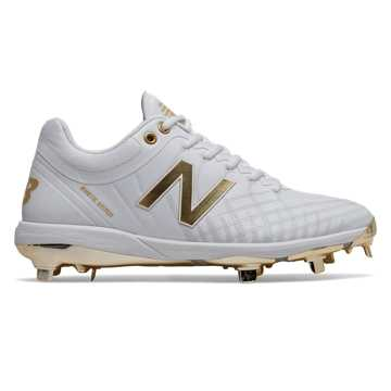 New Balance 4040v5 Hole in the Wall Gang, White with Gold