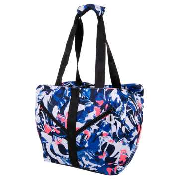 New Balance Womens Training Tote, Blue with White & Pink