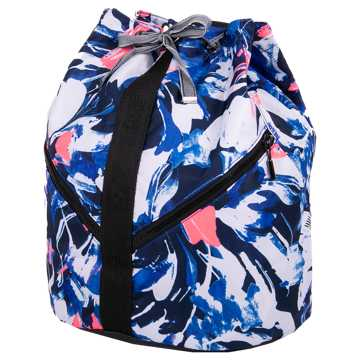 New Balance Womens Backpack, Blue with White & Pink