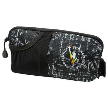 New Balance TCS NYC Marathon Performance Waist Pack, Black with White