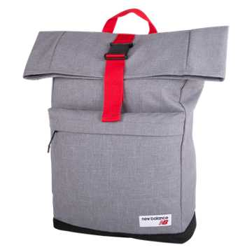 New Balance LSA Rolltop Backpack, Athletic Grey Heather