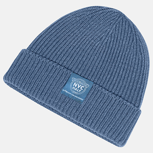 New Balance United NYC Half Watchmans Winter Beanie, LAH01018CMAK