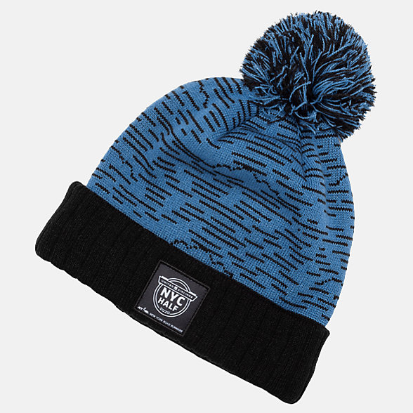 New Balance United Half Graphic Pom Beanie, LAH01020CMAK