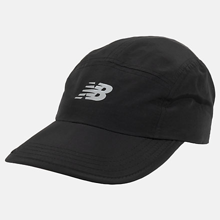 New Balance Packable Run Hat, LAH03007BK image number null