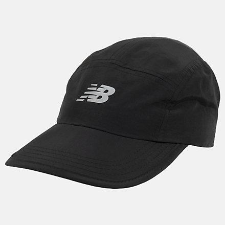 New Balance Running Stash Hat, LAH03007BK image number null